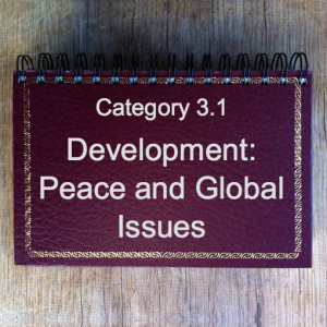 3.1 Development: Peace & Global Issues