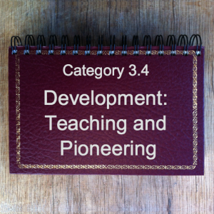 3.4 Development: Teaching & Pioneering