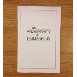The Prosperity of Humankind