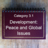 3.1 Development: Peace & Global Issues