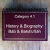 4.1 History & Biography: Báb & Bahá'u'lláh